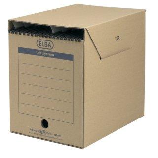 ELBA Archiv-Box maxi tric system, Wellpappe, 236 x 333 x 308 mm, naturbraun