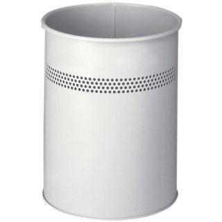 Durable Papierkorb METALL rund 15 P 30, Stahl, rund, 260x315mm (ØxH), 15 l, grau