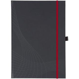 Avery Zweckform® 7029 Hardcover Notizbuch notizio, gebunden, kariert, DIN A4, 90 g/m², 80 Blatt, dunkelgrau