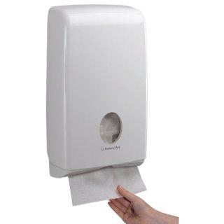 Kimberly-Clark® Professional Slimfold Handtuchspender- 370x230x75 mm, Modell 6904, weiß, Handtücher Herst. Nr. 5856
