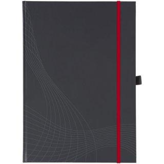 Avery Zweckform® 7027 Hardcover Notizbuch notizio, gebunden, kariert, DIN A5, 90 g/m², 80 Blatt, dunkelgrau