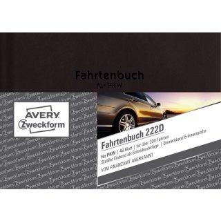 222D Fahrtenbuch - A6, steuerlicher km-Nachweis, 48 Blatt, weiß