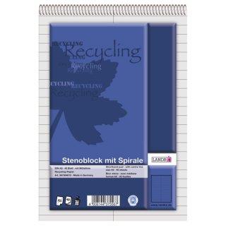 Stenoblock RCP - recycling 60 g/qm, A5, liniert mit roter Mittellinie, 40 Blatt
