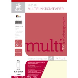 Multifunktionspapier 7X PLUS - A4, 120 g/qm, creme, 35 Blatt