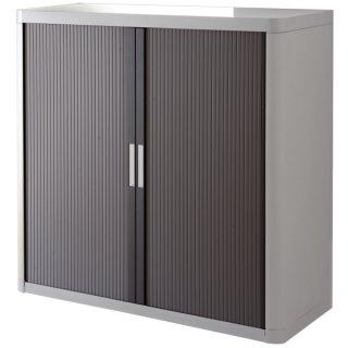Rolladenschrank easyOffice 1-Meter Schrank, inklusive 2 Fachböden grau/anthrazit