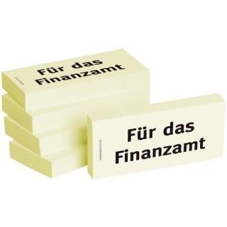 Bedruckte Haftnotizen - Text: Für das Finanzamt