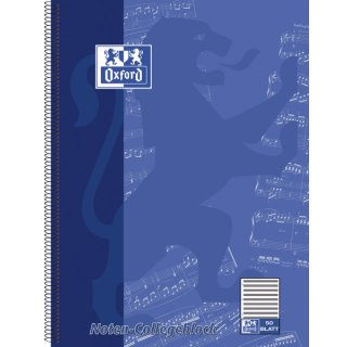 Collegeblock Noten - A4, Lineatur 14 ohne Hilfslinien