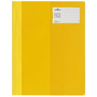 Sichthefter PROJECT FILE - Beschriftungsfenster, A4, gelb