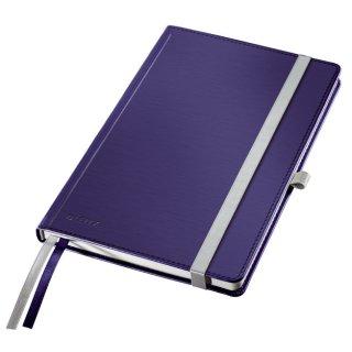 Leitz Notizbuch Style, fester Einband, A5, liniert, titan blau
